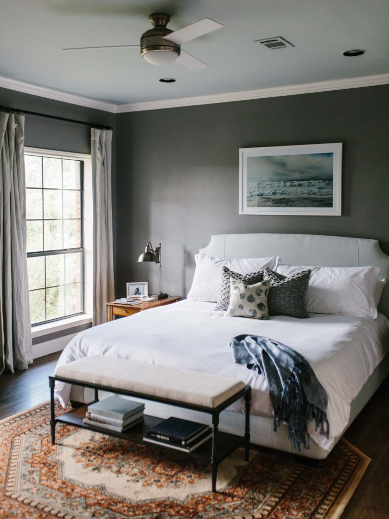 Master bedroom interior design in Austin, TX by BANDD DESIGN