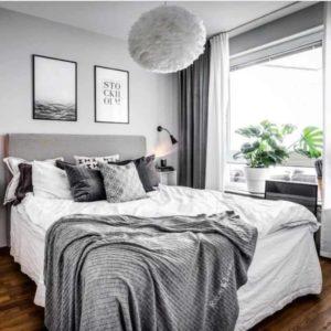 Gray Bedroom Via Traditional Home