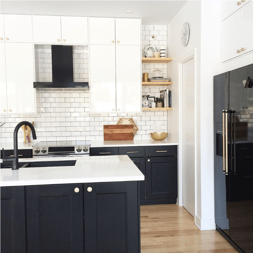 Black Kitchen Appliances With White Cabinets: Matte Black Kitchen Appliances - BANDD DESIGN